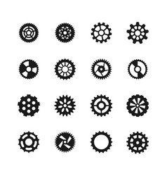 Gear icons transmission with cogwheel and vector