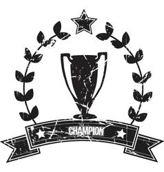 champion vector image