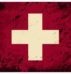 Swiss flag grunge background vector
