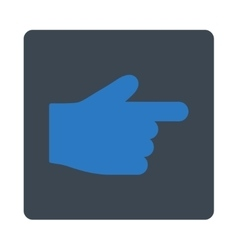 Index finger flat smooth blue colors rounded vector
