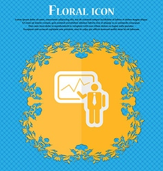 Businessman making report floral flat design on a vector