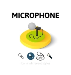 Microphone icon in different style vector
