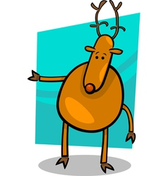 Cartoon doodle of deer vector