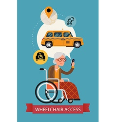 Wheelchair access transport poster vector