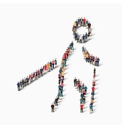 People sports nordic walking vector