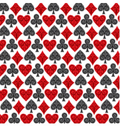 background pattern with playing card symbols vector image vector image