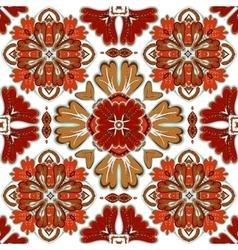 Beautiful seamless ornamental tile background vector image