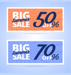 Big Summer Sale cards vector image vector image