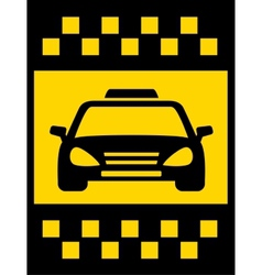 Cab transport background vector