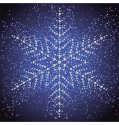 Christmas snowflake on a colorful background vector