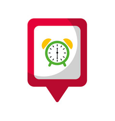 clock alarm social media square pointer web vector image