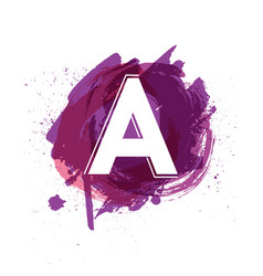 creative letter a logo design template vector image vector image