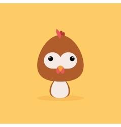Cute cartoon wild chicken vector