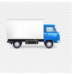 Delivery van on transparent vector