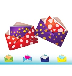 Funny envelopes with cards vector image vector image