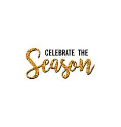 happy new year typographic text design black vector image