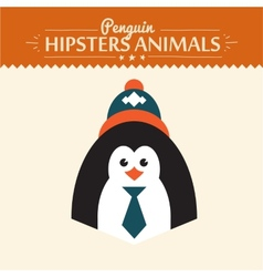 Hipster penguin vector