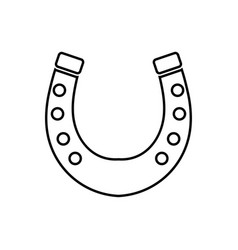 horseshoe black color icon vector image vector image