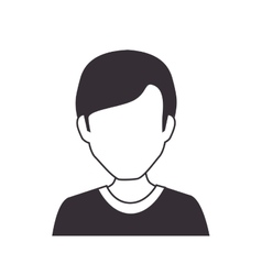 Human avatar man isolated icon vector