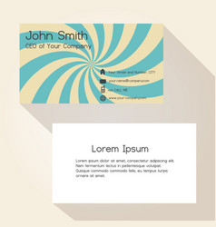 Hypnotic curves abstract color business card vector
