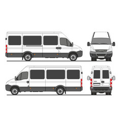 Iveco turbo daily passenger bus vector