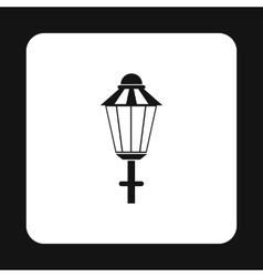 Light icon in simple style vector