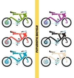Multicolored Futuristic Bicycle vector image vector image