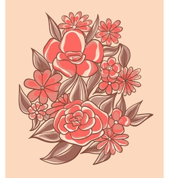 pretty pink flowers vector image