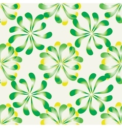 Seamless floral pattern background with leaves vector