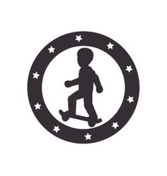 skate Extreme sport athlete avatar vector image