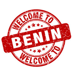 welcome to benin vector image vector image