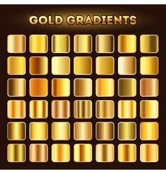 Gold gradients set vector image