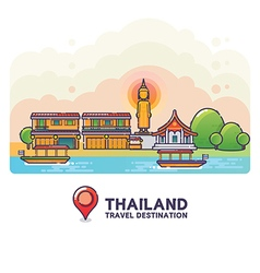 Thailand travel destination concept vector