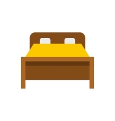 Bed icon flat style vector