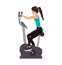 Fitness woman training vector