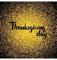Thanksgiving day gold design vector