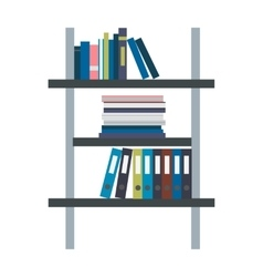 Rack with binders in flat design vector