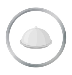 Cloche icon in cartoon style isolated on white vector