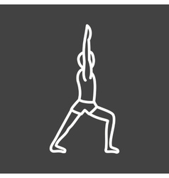 Warrior pose vector