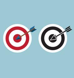 dartboard with arrow icon symbol vector image