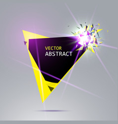 Banner with explosion of black and yellow pieces vector
