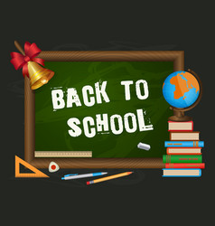 Back to school banner poster greeting card design vector