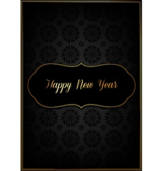 Black new year card vector image