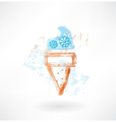 Freeze ice-cream grunge icon vector