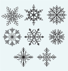 Snowflake winter vector