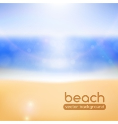 Blurred beach background vector