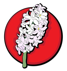 hyacinth clip art red vector image