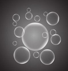 Abstract background with gray glossy bubble vector image