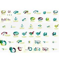 Speech bubble and arrows logo set vector image