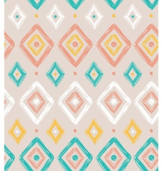 Tribal seamless pattern with rhombuses geometric vector